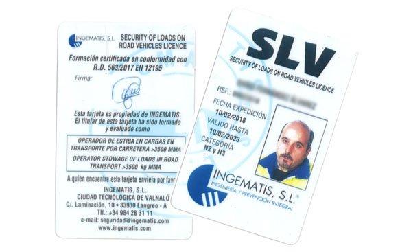 Licencia operador de estiba en carga - Carné SLV