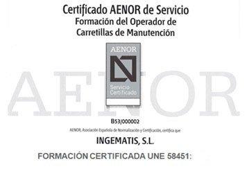 Formacion carretilla certificado
