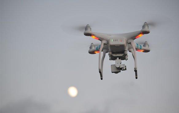 medición de emisión de contaminantes con dron